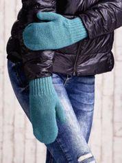 Zielone gładkie rękawiczki z jednym palcem