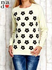 Żółta bluza z nadrukiem kwiatów