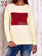 Żółta bluza z napisem BODDHA CAT