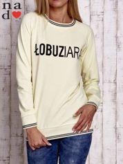 Żółta bluza z napisem ŁOBUZIARA