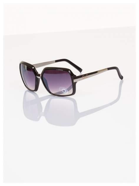 Duże eleganckie okulary blogerek typu MUCHY z metalowym zausznikiem,filtry UV,normy CE