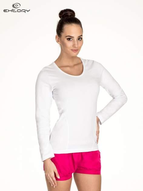 Biała bluzka sportowa basic PLUS SIZE