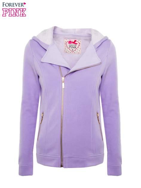 Bluza typu ramoneska w kolorze lila