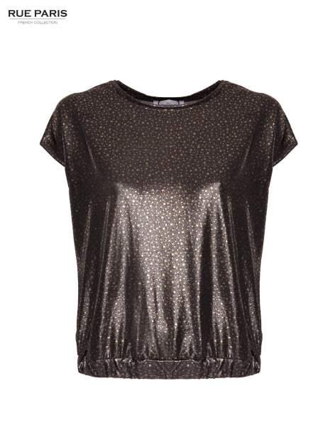 Błyszcząca bluzka w stylu disco