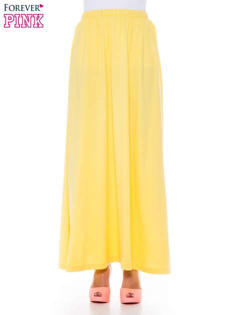 Ciemnożółta zwiewna spódnica maxi