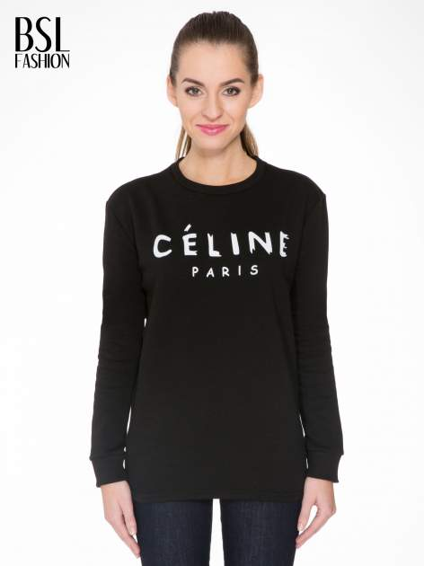 Czarna bluza z nadrukiem CÉLINE PARIS