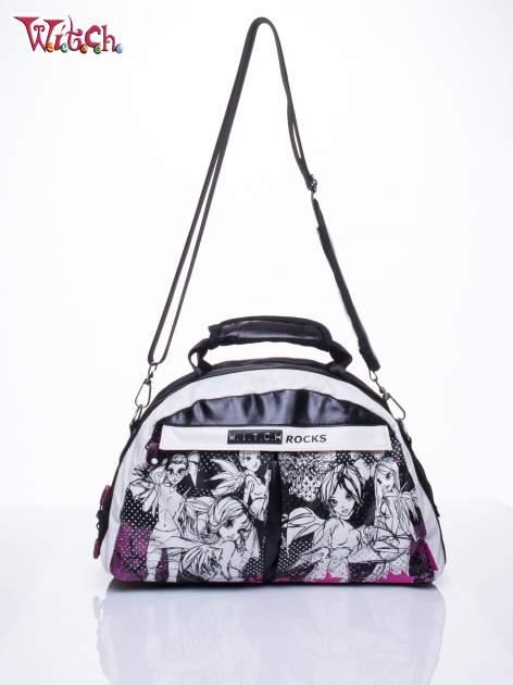Czarna torba szkolna DISNEY Witch z odpinanym paskiem