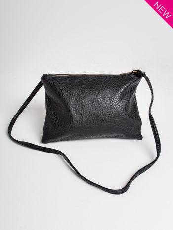 Czarna torebka dwukomorowa z paskiem