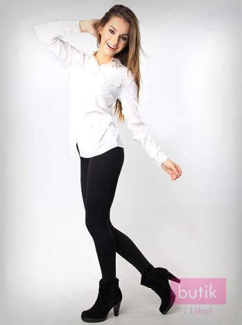 Czarne gładkie legginsy bawełniane