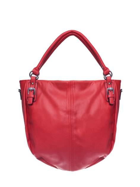 Czerwona torebka miejska z odpinanym paskiem