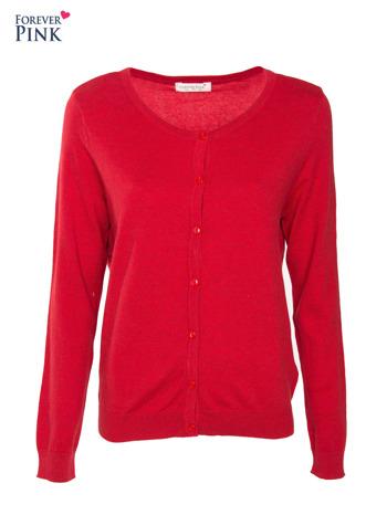 Czerwony rozpinany sweter z bawełny