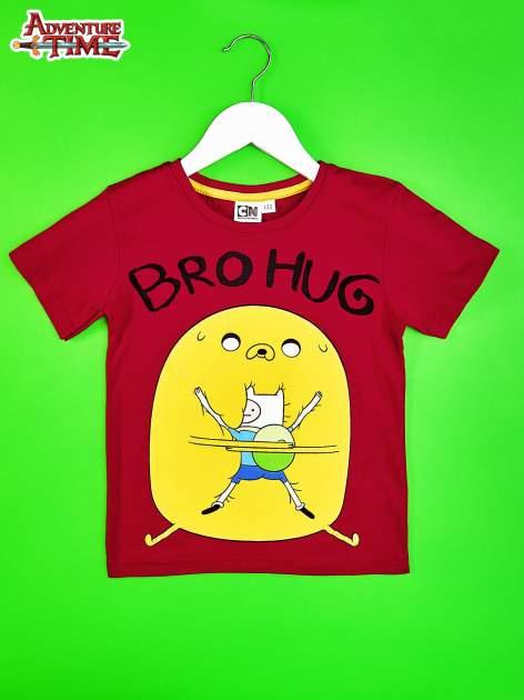 Czerwony t-shirt chłopięcy ADVENTURE TIME