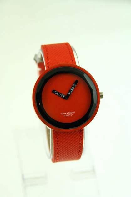 Czerwony zegarek damski na pasku