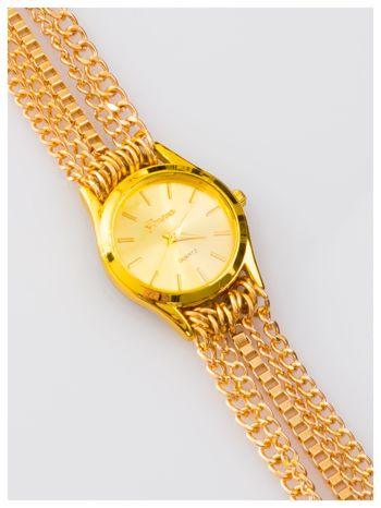 Damski zegarek. Pasek z łańcuszków - zawijany na nadgarstku. Stylowy.
