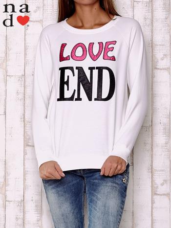 Ecru bluza z napisem LOVE END
