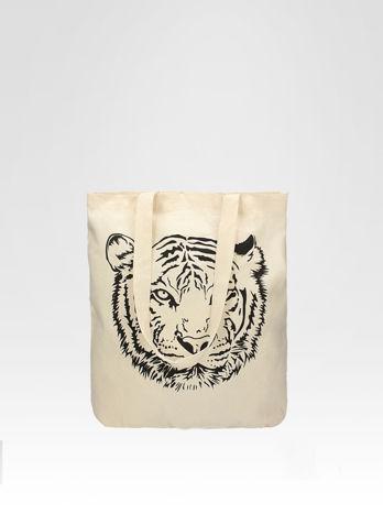 Ekotorba na zakupy z nadrukiem tygrysa