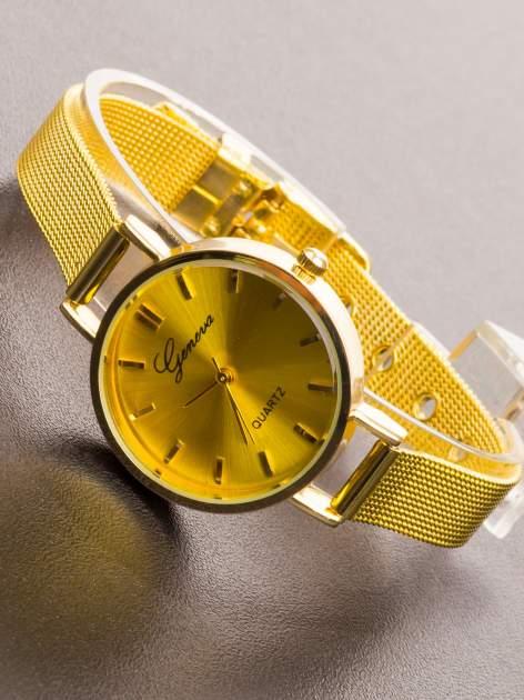 GENEVA Złoty prosty zegarek damski na bransolecie