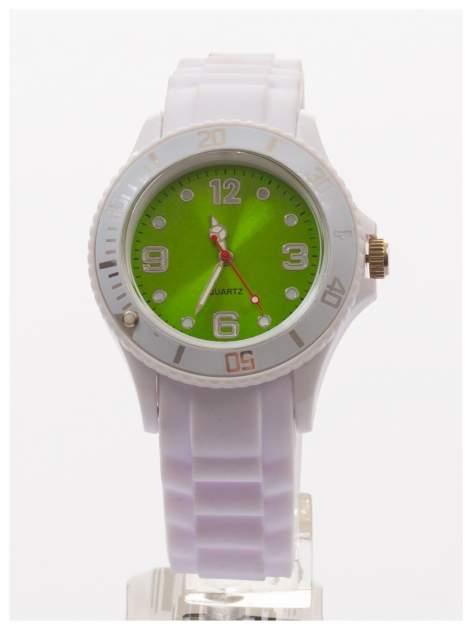 Modny zegarek damski na silikonowym pasku