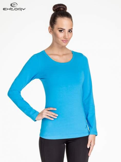 Niebieska bluzka sportowa basic PLUS SIZE