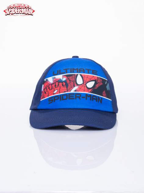 Niebieska chłopięca czapka z daszkiem SPIDERMAN