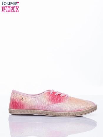Różowe tenisówki ombre
