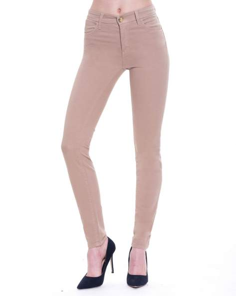 STRADIVARIUS Beżowe spodnie skinny typu rurki