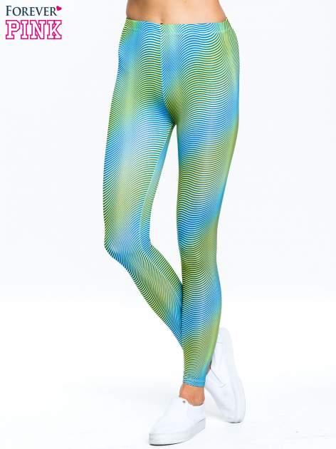 Zielone legginsy w modelujące paski