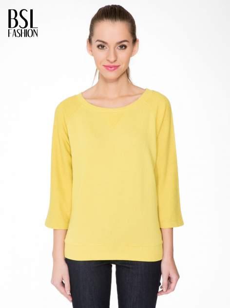 Żółta bluza oversize z łączonych materiałów