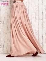 Beżowa spódnica maxi z ozdobnym paskiem