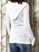 Biały sweter z kapturem zasuwany na suwak Funk n Soul