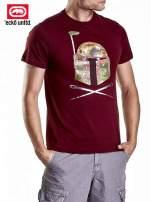 Bordowy t-shirt męski z motywem Star Wars