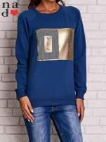 Ciemnoniebieska bluza z napisem YES NOW