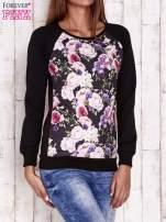 Czarna bluza z motywem róż