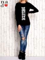 Czarna bluza z napisem DELUXE