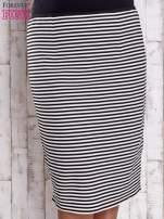 Czarna ołówkowa spódnica w paski PLUS SIZE