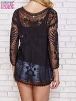 Czarny ażurowy sweterek mgiełka