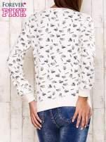 Ecru bluza motyw buldożków