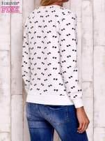 Ecru bluza z nadrukiem kokardek