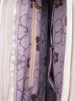 Ecru miejska torba z ozdobnymi klamrami