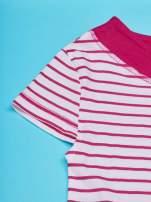 Fuksjowa tunika w paski dla dziewczynki MINNIE MOUSE