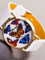 GENEVA Ładny biały zegarek damski