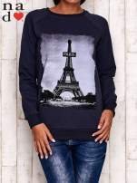 Grafitowa bluza z motywem Wieży Eiffla