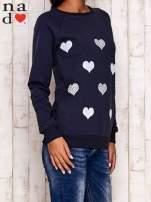 Grafitowa bluza z serduszkami