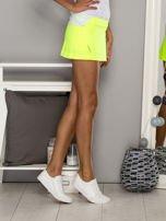 Jasnozielone gładkie spodenki spódniczka tenisowa