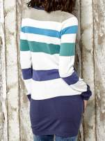 Kolorowy sweter w poziome paski Funk n Soul