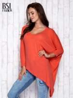 Koralowa melanżowa bluzka oversize
