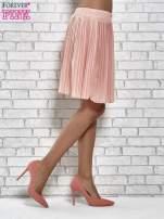Koralowa plisowana spódnica do kolan