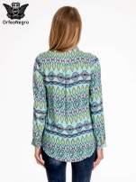 Miętowa koszula w azteckie wzory