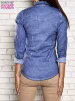 Niebieska denimowa koszula acid wash