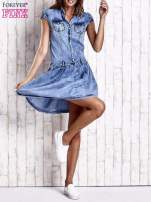 Niebieska denimowa sukienka z obniżonym stanem